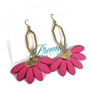 Premier Designs Statement Earrings Oval Hexagon Go